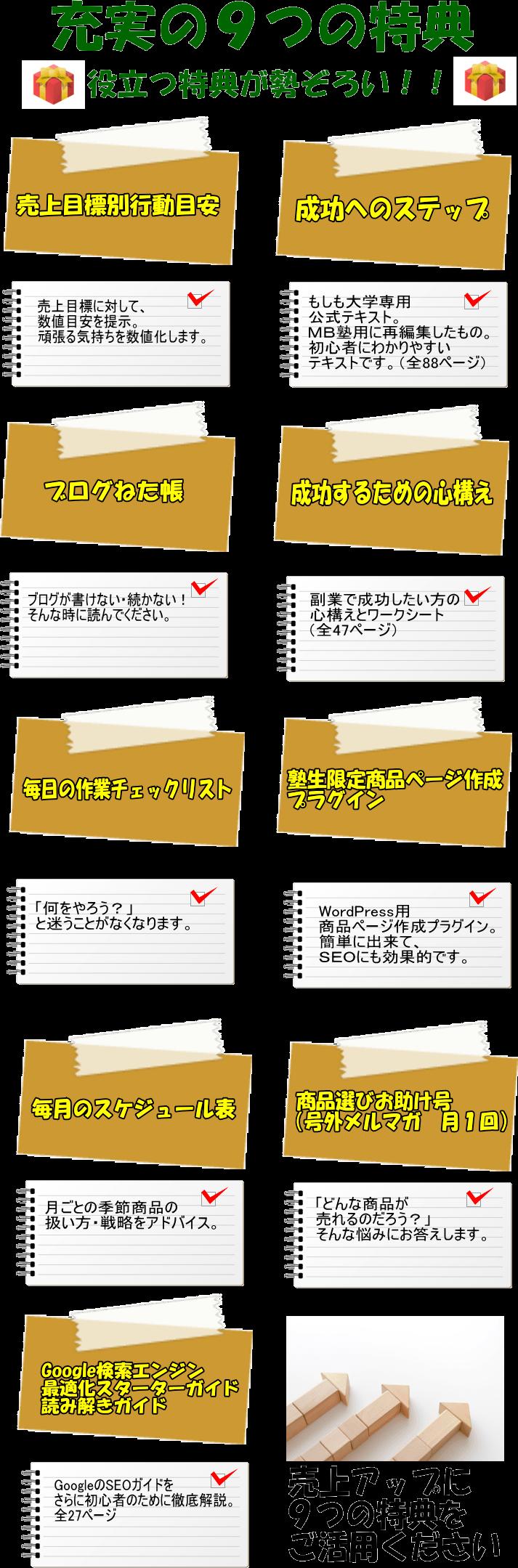 9つの特典