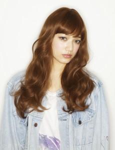 Hip Chick Wig Tokyo ガーリーロング オレンジブラウン