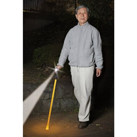 ステッキ 充電式ledライト ソーラー充電式LEDライト安全杖